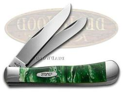 Case xx Trapper Knife Green Luster Corelon Handle Stainless